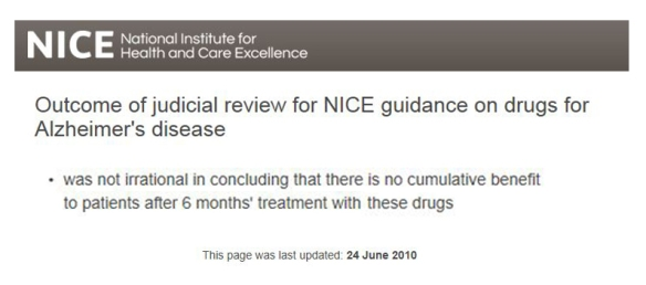 NICE review June 2010