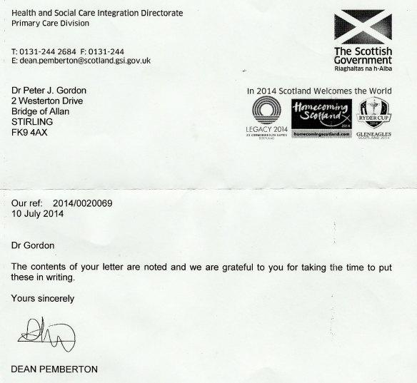 Correspondence With Healthcare Improvement Scotland HIS