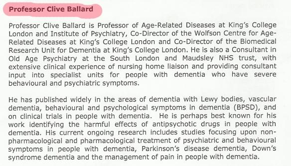 Prof Clive Ballard Bio 26-9-14