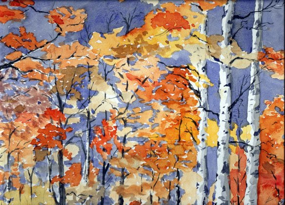 Birch trees (autumn 1991) - Peter Gordon