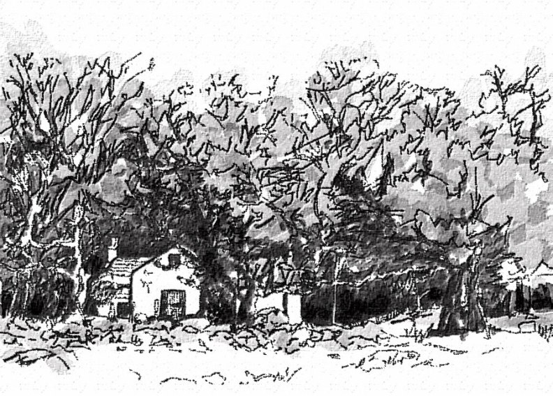 Bovagli farmhouse scribble, 1999 - by Peter Gordon