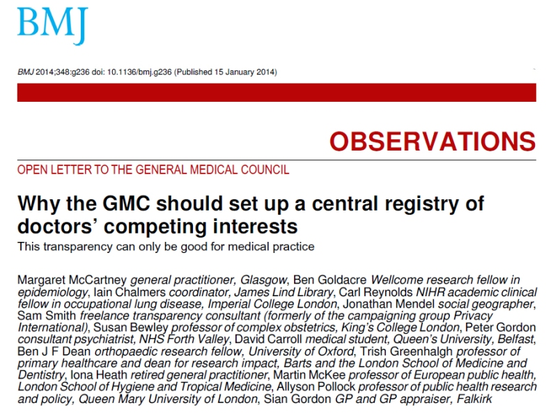 GMC central Register, call for