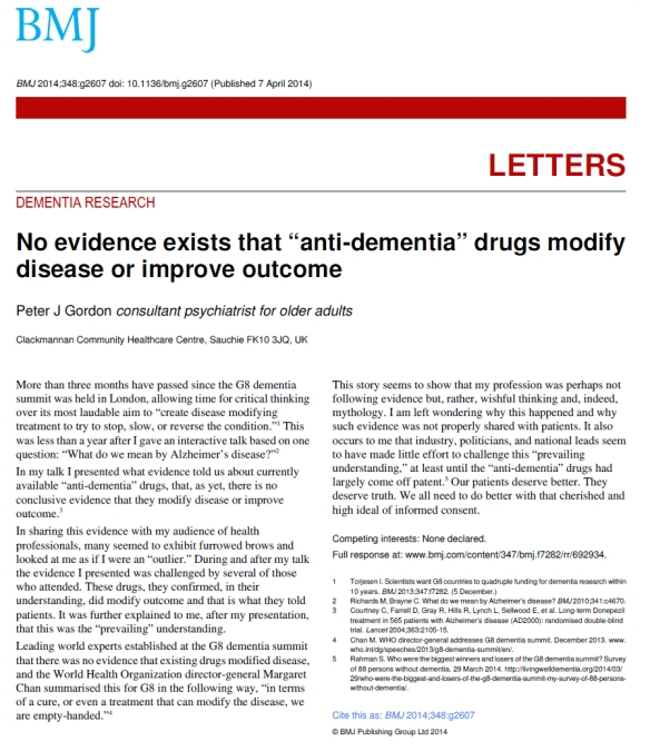No evidence anti-dementia drugs