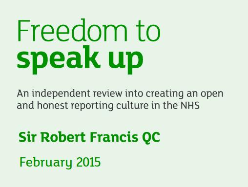 Freedom to speak up