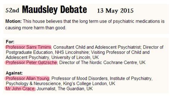 52nd Maudsley debate 2015