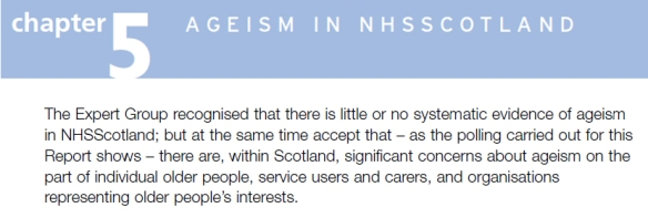 Ageism in NHS Scotlandc