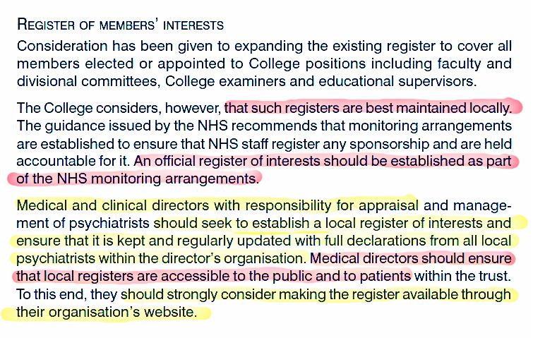 CR148 Registers of members interests