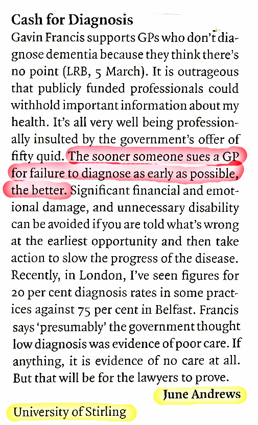 LRB - cash for diagnoses - June Andrews