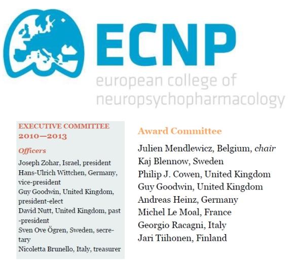 Cowen, P J - ECNP
