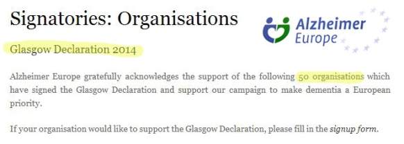 Glasgow declaration April 2015