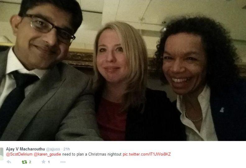 Karen Goudie & Dr Wolff 4 Dec 2014