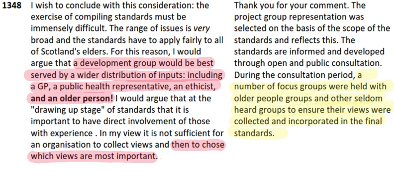 016 comment on Care Standards 2015