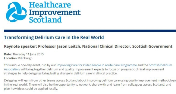 Transforming delirium care in the real world
