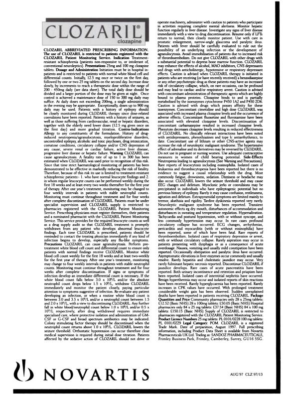 1997 British Journal of Psychiatry advert 09b