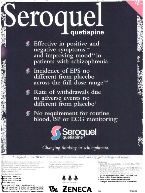 1997 British Journal of Psychiatry advert 09g