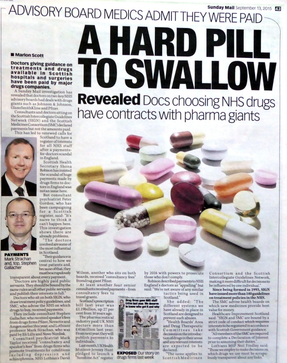 A hard pill to swallow 13 Sept 2015