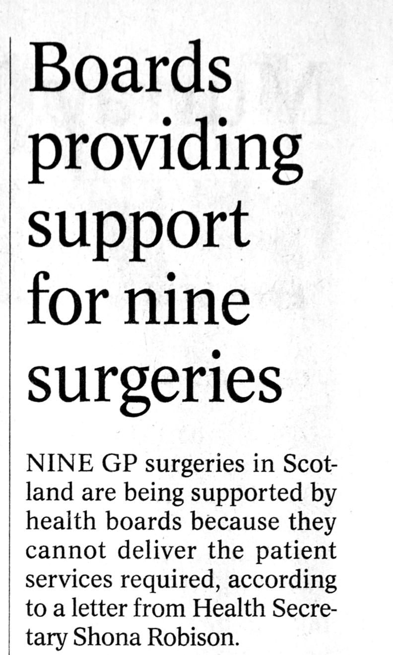 Nine surgeries 31 July 2015a