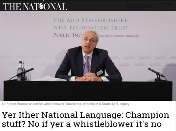 No if yer a whistleblower it's no