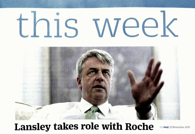 Andrew Lansley, Roche 20 Nov 2013