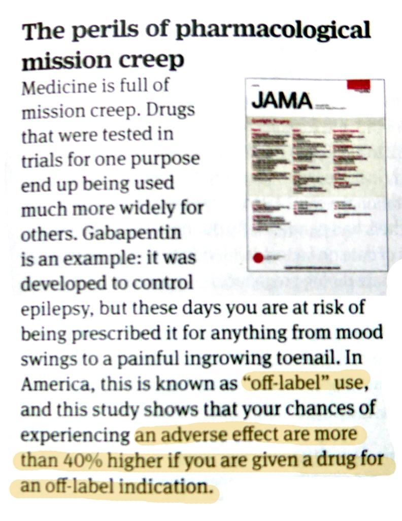 Pharmacological mission creep, BMJ, 20 Nov 2015