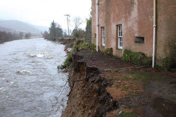 Abergeldie castle - 2 Dec 2016 - after storm Frank (2) - Copy