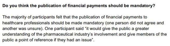 Majority said mandatory register of financial interests is required