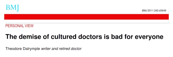 001 Demise of cultured doctors