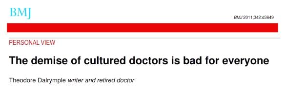 001 Demise of cultured doctors