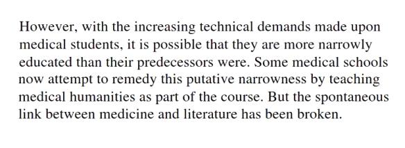 005 Demise of cultured doctors