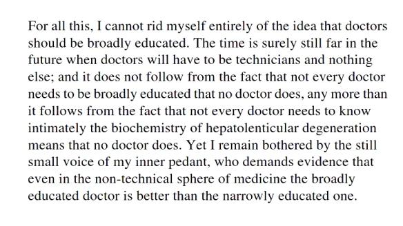 008 Demise of cultured doctors
