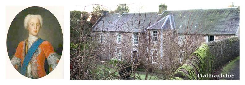 Balhaddie house, Bonnie Prince Charlie, & Granny