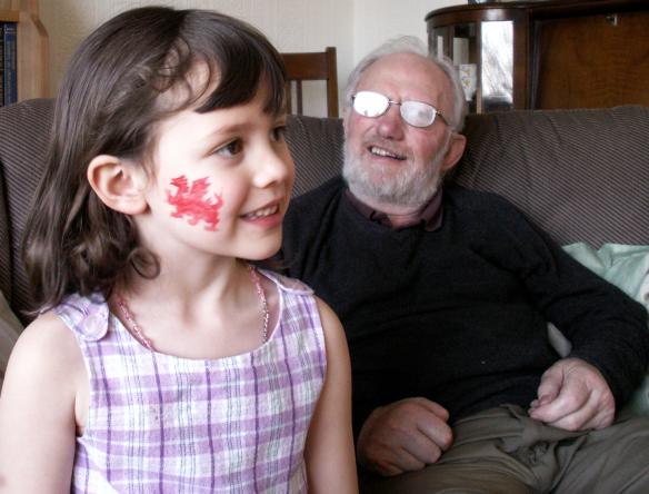 Dai Williams with his grandaughter Rachel F Gordon