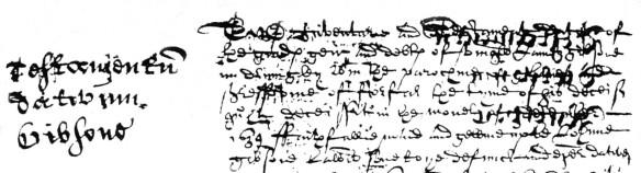 James Gibsone, Glamis, 1641