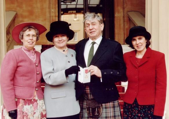 John Gibson Scott receives his OBE