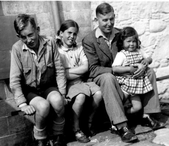Rab and his three children - John, Helen and Margaret