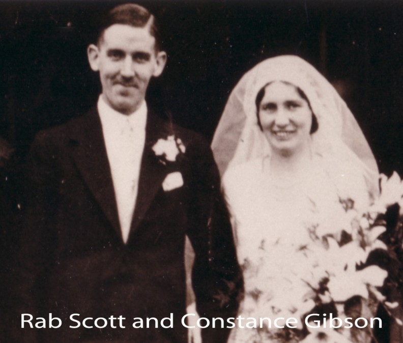 Rab Scott Connie Gibson wedding