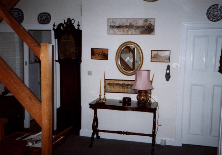 The Hallway & grandfather clock in Thorburn Road