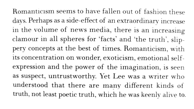 Truth, facts and Romanticism