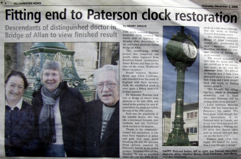 2009 make-over for the village clock