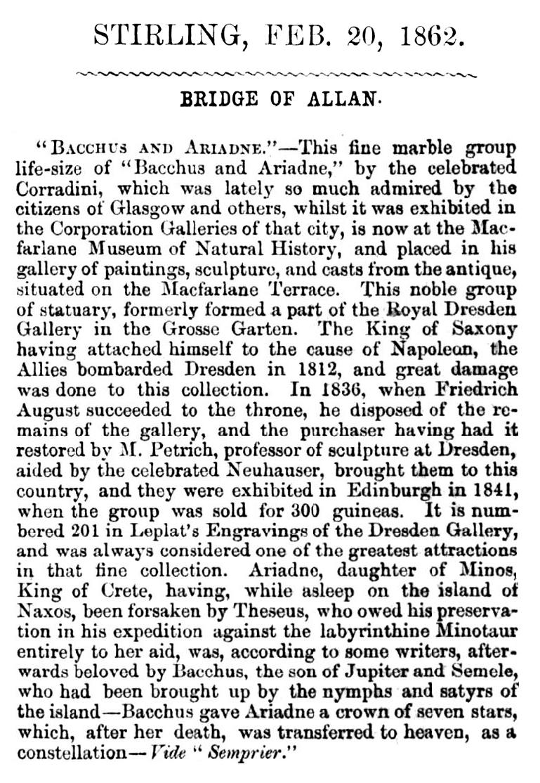 Bacchus and Ariadne, 1862