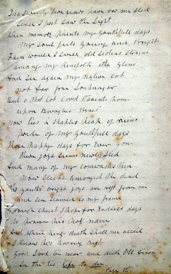 Bovagli Manuscript - page 1