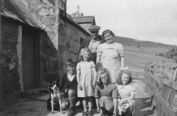Figure 2.44 The Kennedy family outside The Camlet in the post war years