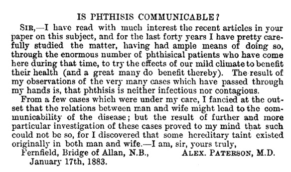 Is-phthisis-communicable-(1883)