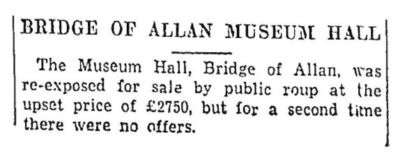 No sale, 1938