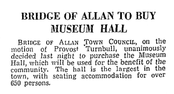 To Buy Museum Hall, 7 Dec 1949