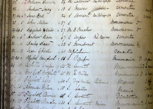 The Asylum Admission Register (sample)