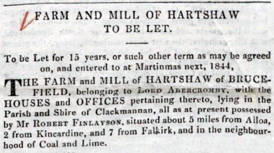 Mill of Hartshaw 1844