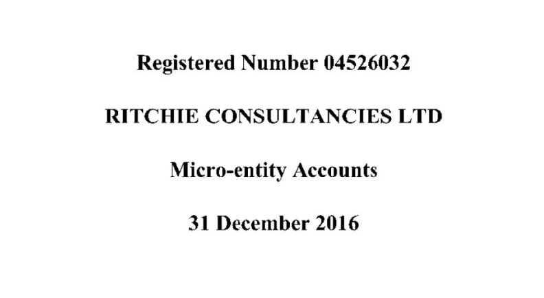 Ritchie Consultancies Ltd (2016)