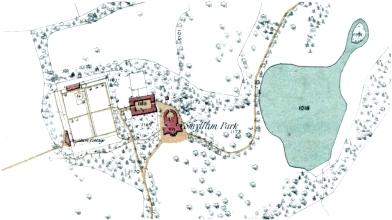 Smyllum Park 1858 map