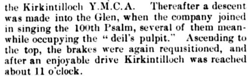 Kirkintilloch YMCA, 1895, Deil's Glen
